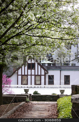 Historic Cranbrook house  stock photo, Spring in historic Cranbrook house ,Detroit MI by Sreedhar Yedlapati