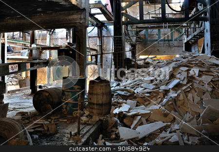 abandoned marble processing factory stock photo, Abandoned marble processing factory interior. Industrial decay. by sirylok
