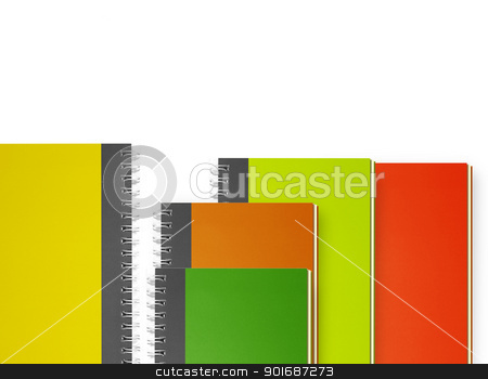notebooks stock photo, Small notebooks isolated on white  by Designsstock