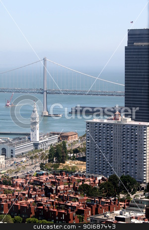 Bay Bridge stock photo, The Bay Bridge in San Fransisco by Henrik Lehnerer