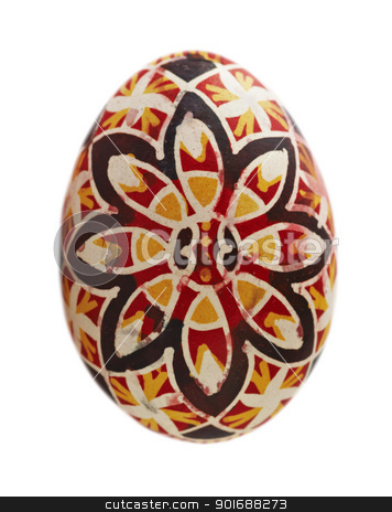 Easter egg stock photo, Detail of the Easter egg - Easter decoration by Siloto