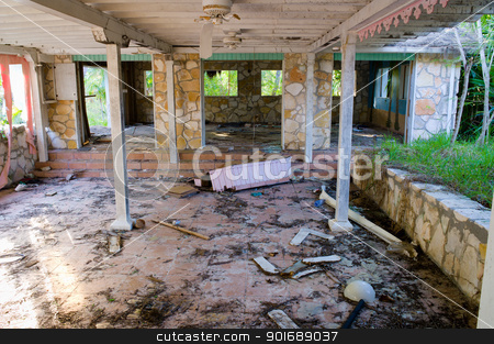 Abandonded Hotel stock photo, Abandonded Hotel by Dunning Adam Kyle
