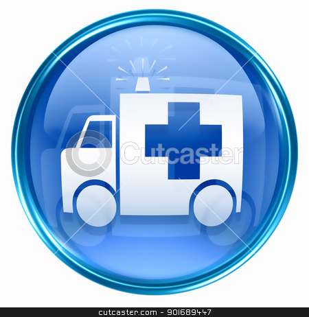 First aid icon blue, isolated on white background. stock photo, First aid icon blue, isolated on white background. by Andrey Zyk