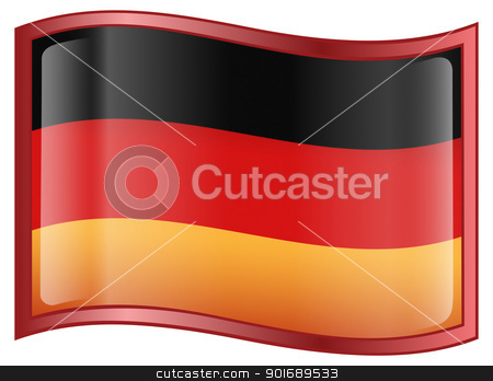 Germany Flag Icon stock photo, Germany Flag Icon, isolated on white background. by Andrey Zyk