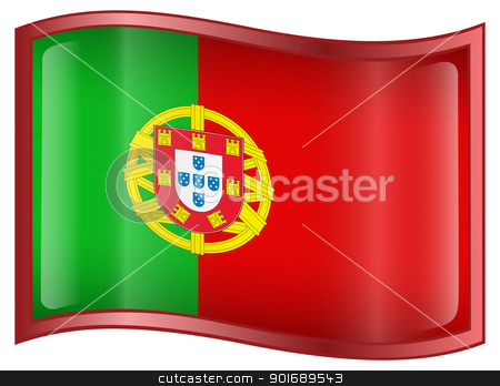 Portugal Flag Icon stock photo, Portugal Flag Icon, isolated on white background. by Andrey Zyk