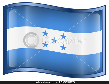 Honduras Flag icon stock photo, Honduras Flag icon, isolated on white background. by Andrey Zyk