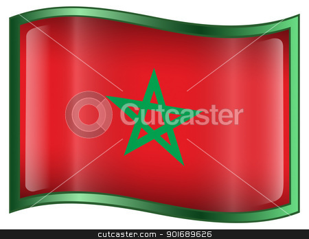 Morocco Flag icon stock photo, Morocco Flag icon, isolated on white background. by Andrey Zyk
