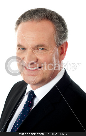 Closeup of a business executive stock photo, Closeup of a business executive isolated over white by Ishay Botbol