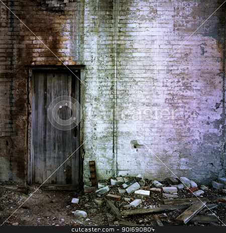 Door And Brick Wall stock photo, Door And Brick Wall by Dunning Adam Kyle