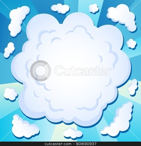 Comics cloud theme image 1 stock vector clipart, Comics cloud theme image 1 - vector illustration. by Klara Viskova