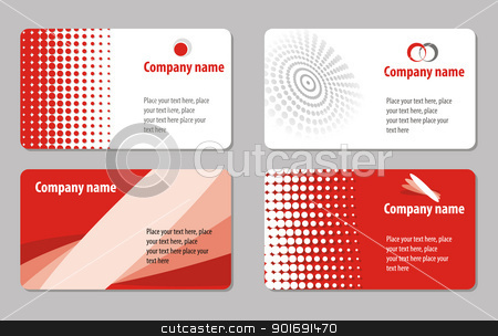 Business card template collection stock vector clipart, Business cards templates by vtorous