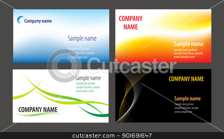 Business cards stock vector clipart, Business cards templates collection by vtorous