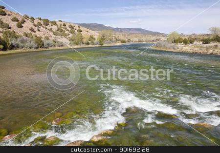 Green River at Browns Park, Utah stock photo, Green River at Bridge Hollow, Browns Park, Utah below Flaming Gorge Dam, springtime, looking downstream by Marek Uliasz