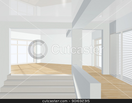 3d interior of room with stairs. stock photo, 3d interior. by Oleksiy Fedorov