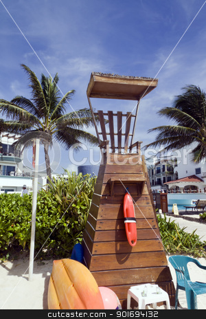 Life Guard Station stock photo, A wooden life guard station by the beach by Kevin Tietz