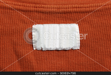 Orange Shirt with White Label stock photo, A orange shirt with a white label.  by Chris Hill