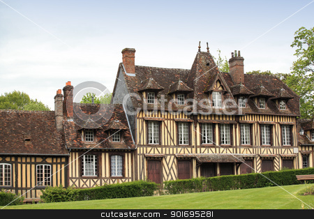 great and ancient house in Normandy France stock photo, great and ancient house in Normandy France by Chretien