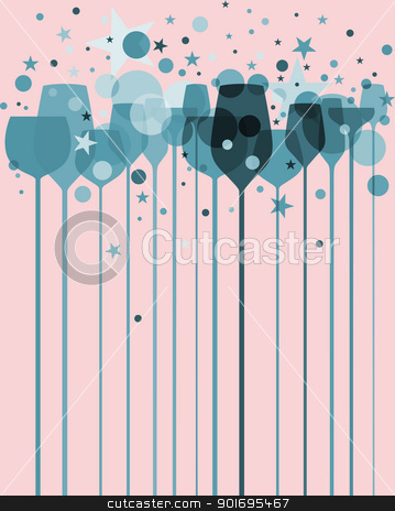 Colorful Party Drinks stock photo, A beautiful composition of alcohol drink glasses with decorations in various colors by HypnoCreative