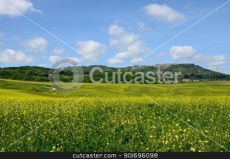 Crete Senesi stock photo, The landscape odf the 