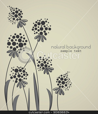 floral stock vector clipart, Floral abstract vector background with space for text by Miroslava Hlavacova