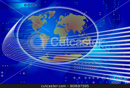 global communication stock photo, Abstract image - technology abstract - global communication by Siloto
