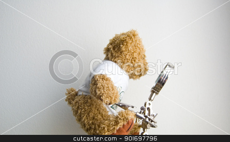 Teddy bear stock photo, Teddy bear for different concepts: education, vision, optics, lie, truth by Vanessa GF