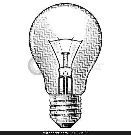 Figure bulbs stock photo, Figure bulbs. Illustration on white background.  by dvarg