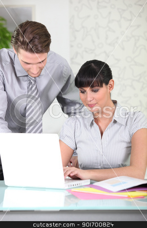 Director and Secretary stock photo, Director and Secretary by photography33