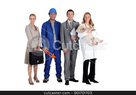 Four different occupations stock photo, Four different occupations by photography33