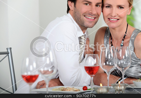 Couple dining stock photo, Couple dining by photography33