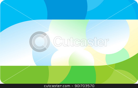 Business card template stock vector clipart, Business card template by vtorous