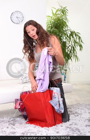 surprise after shopping stock photo, surprise after shopping by photography33
