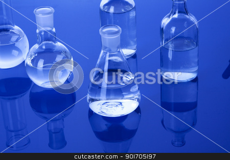Laboratory Glassware stock photo, Laboratory Glassware by fikmik