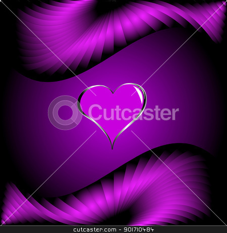 Valentines Hearts on Hearts Valentines Day Background Stock Vector Clipart  A Purple Hearts