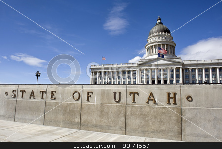 Capital building in Utah. stock photo, State capital of Utah in Salt Lake City. by WScott