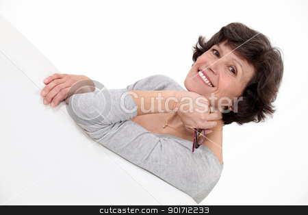 Middle aged woman posing. stock photo, Middle aged woman posing. by photography33