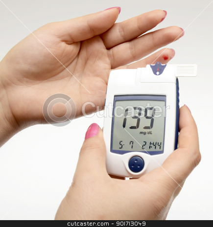 Measuring blood sugar stock photo, Measuring blood sugar by Turhan Yalçın
