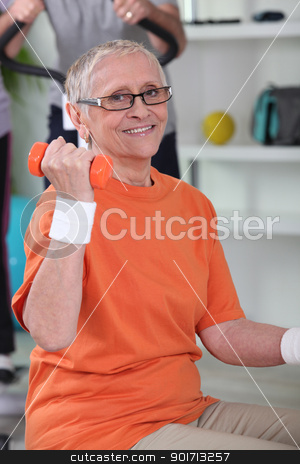 senior woman getting in shape stock photo, senior woman getting in shape by photography33