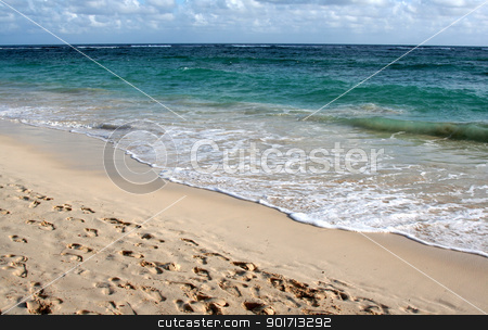 Perfect Punta Cana Beach stock photo, The beautiful beach of Punta Cana, Dominican Republic.  Shot a couple hours after dawn. by Chris Hill