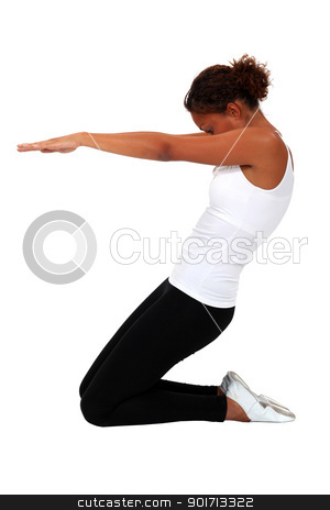 A yoga position stock photo, A yoga position by photography33