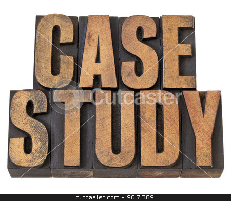case study words in wood type stock photo, case study  - isolated  text in vintage letterpress wood type by Marek Uliasz