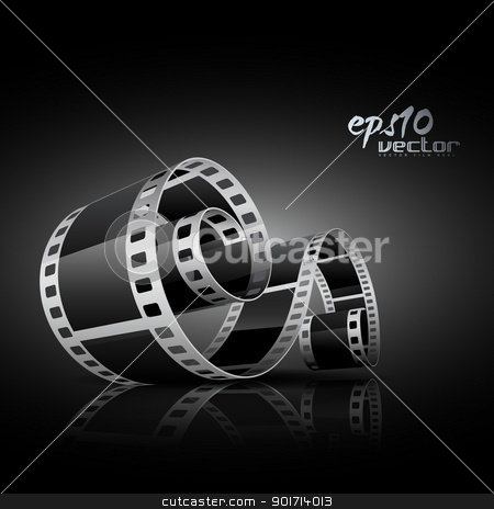 realistic vector reel film stock vector clipart, realistic vector 3d film reel by pinnacleanimates