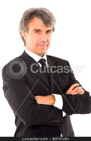 businessman with arms crossed stock photo, businessman with arms crossed by ambrophoto