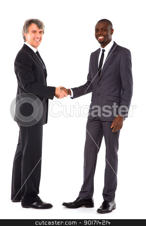 businessmen shaking hands stock photo, businessmen shaking hands by ambrophoto