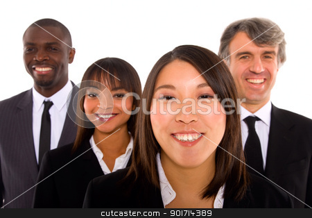 multi-ethnic team stock photo, multi-ethnic team by ambrophoto