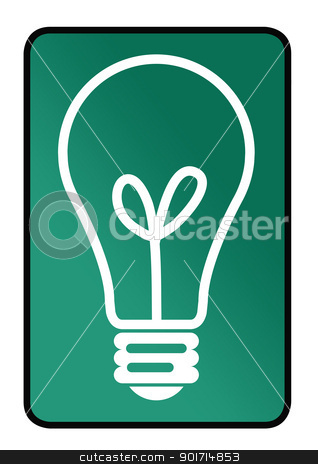 Ideas concept sign stock photo, Ideas concept sign with lightbulb isolated on white background. by Martin Crowdy