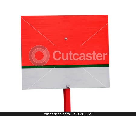 Blank for sale sign stock photo, Blank for sale sign with copy space, isolated on white background. by Martin Crowdy