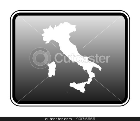 Italy map on computer tablet stock photo, Italy map on modern computer tablet, isolated on white background. by Martin Crowdy