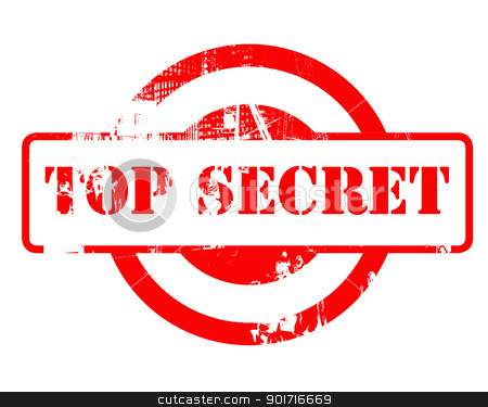 Top Secret red stamp stock photo, Top Secret red stamp with copy space isolated on white background. by Martin Crowdy