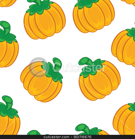 Seamless texture stock photo, Seamless texture of an orange pumpkin. Illustration on white background  by dvarg
